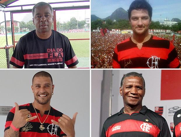 montagem ídolos Flamengo FlaxFlu (Foto: Editoria de Arte / Globoesporte.com)