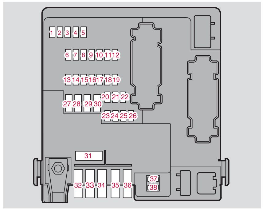 Volvo S80 2006 Fuse Box Diagram Auto Genius