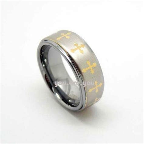 Mens Cross Wedding Bands   eBay