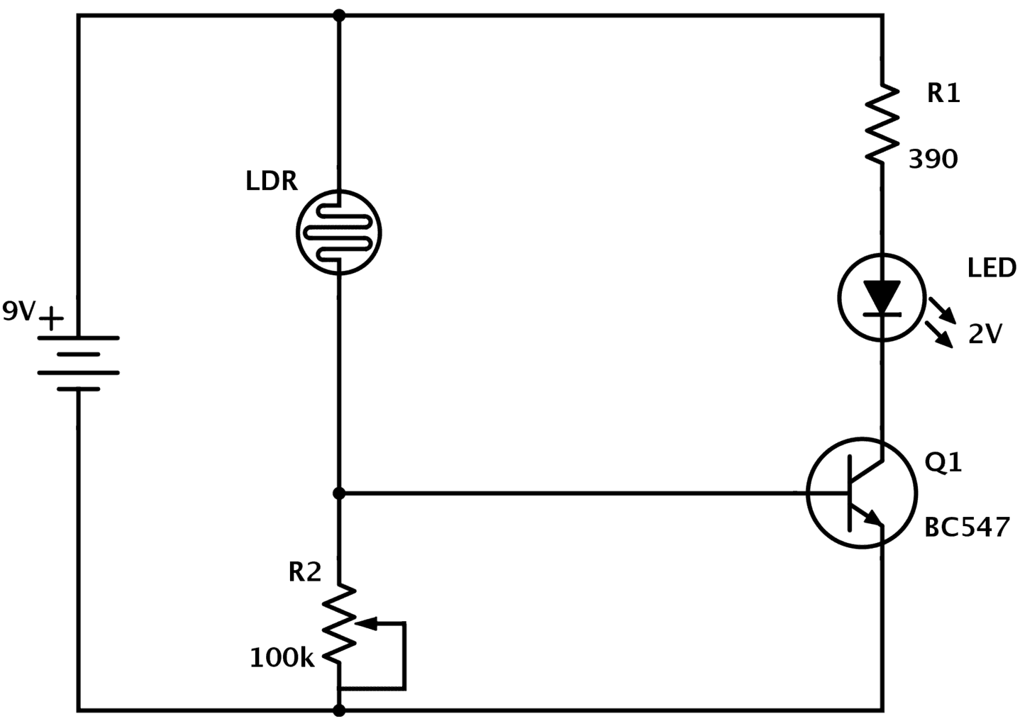 LDR circuit improved