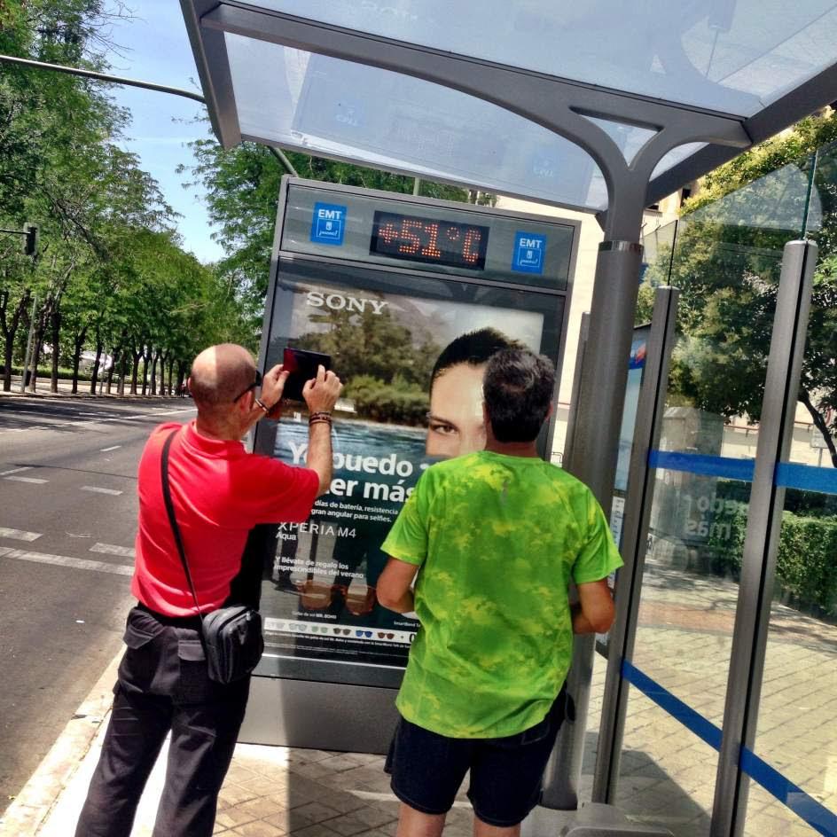 51 grados asfixiantes en Madrid