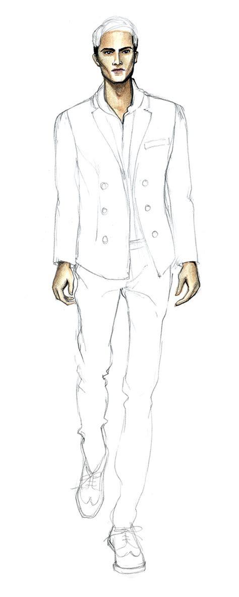 drawing  elegant man fashion finishing school