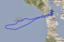 Farallones double-handed course- sailing around rocks and back to San Francisco Bay