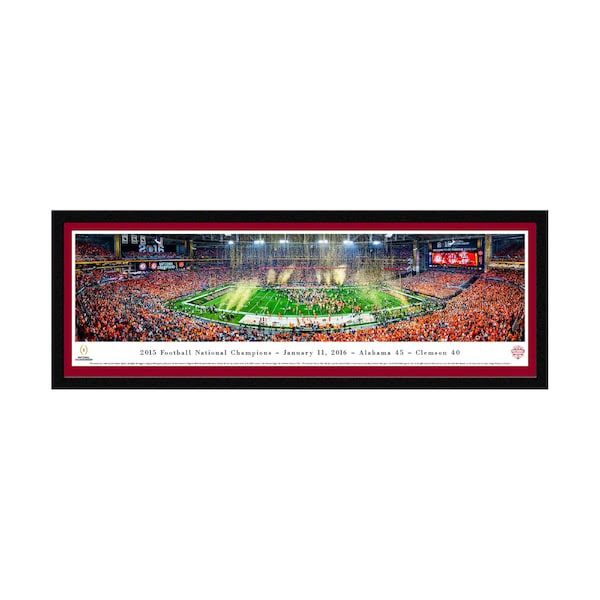 Alabama Crimson Tide 16 X 42 Select Frame Panoramic Wall Art Sec