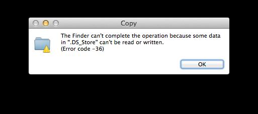 Mac error code 36