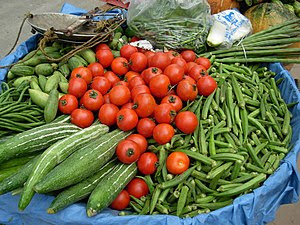 Fresh vegetables are available everywhere at H...