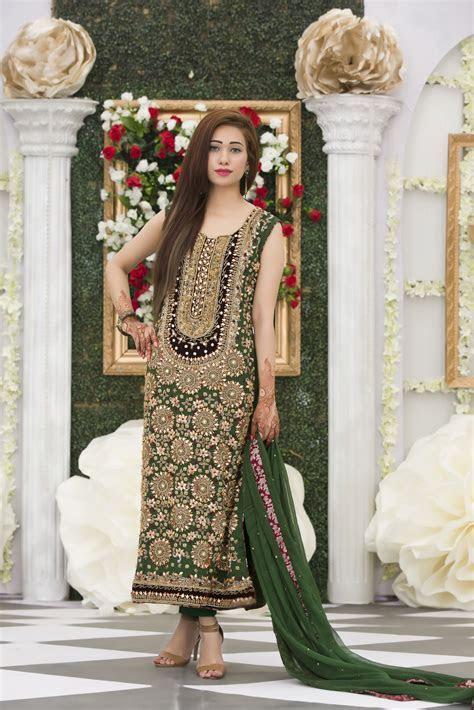 EXCLUSIVE BOTTLE GREEN BRIDAL DRESS   Exclusiveinn.com