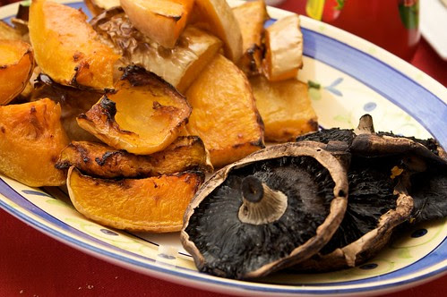 roast pumpkin and field mushies