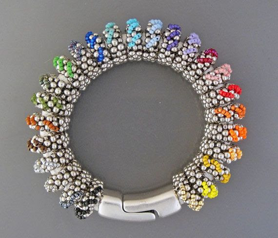 Rainbow Bracelet tutorial $20
