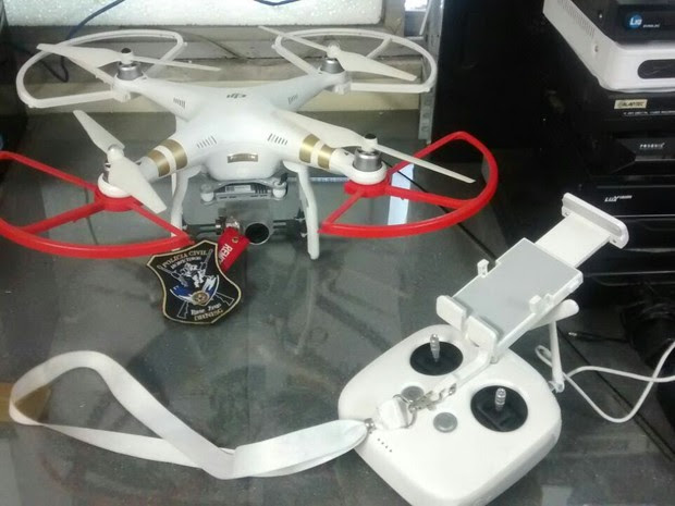 Drone começou a ser utilizado no mês de março pela Divisão de Homicídios de Niterói (Foto: Divulgação/Polícia Civil)