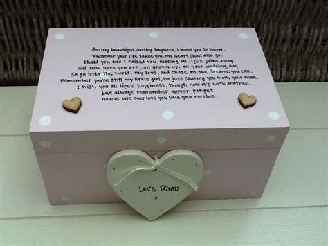 Shabby Personalised Chic Daughter On Her Wedding Day From