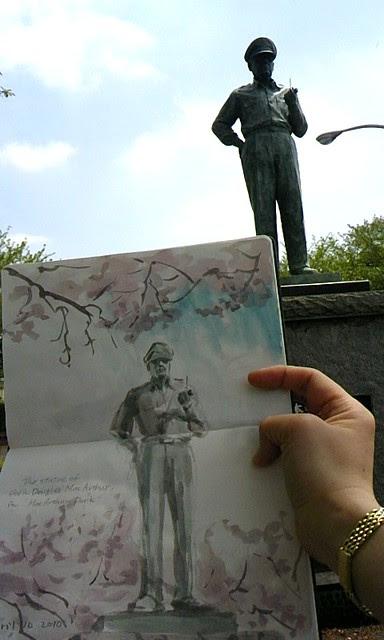 The statue of Gen. Douglas MacArther