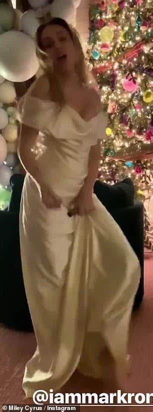 Miley Cyrus dances in wedding dress as she marries Liam