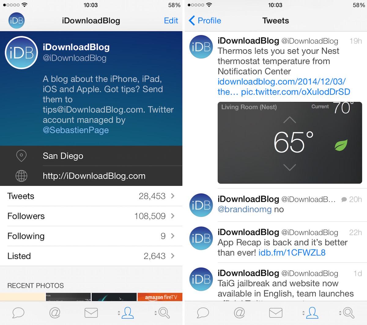 Tweetbot 3 iPhone 6