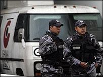 Policías ecuatorianos