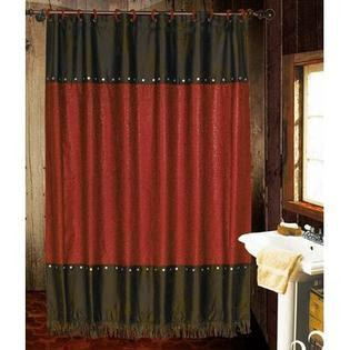 Black And Red Shower Curtain from Sears.