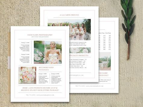Wedding Pricing Guide Set ~ Brochure Templates ~ Creative