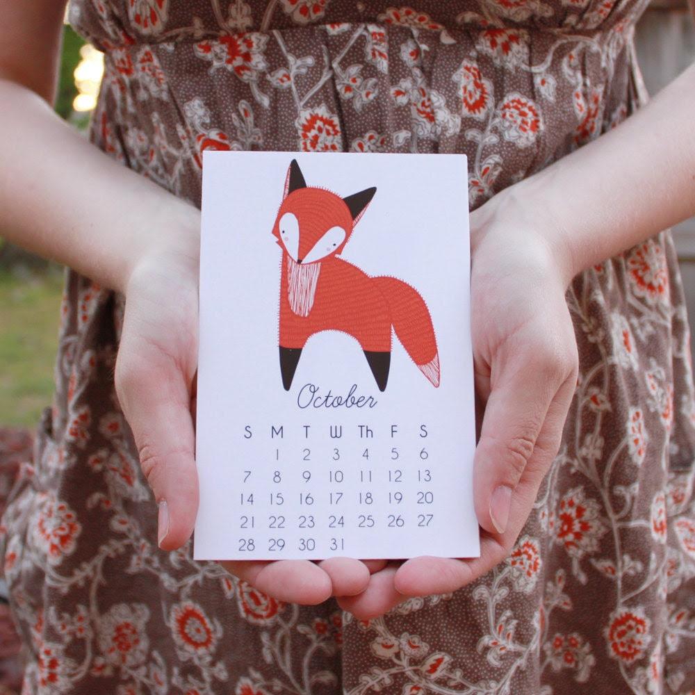 2012 Calendar Little Foxes