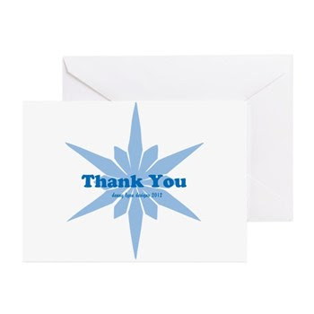 Blue Star Thank You Greeting Cards (Pk of 10)