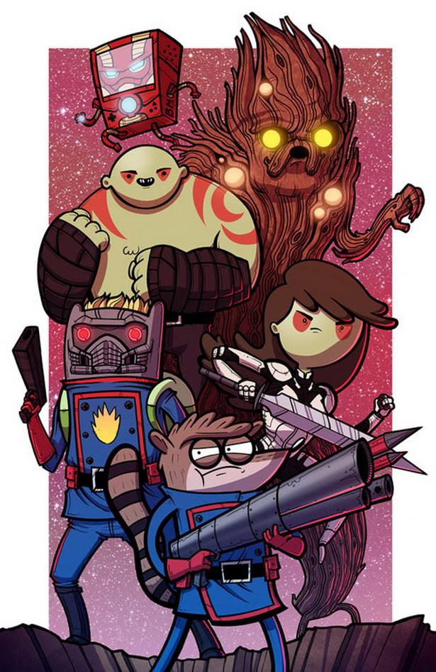 Guardianes de la Galaxia versión Hora de Aventuras