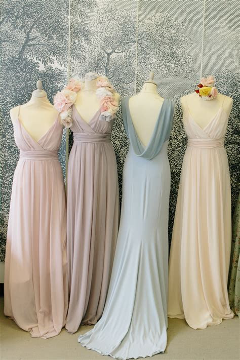 Lovely Light Colors Chiffon Bridesmaid Dresses Different