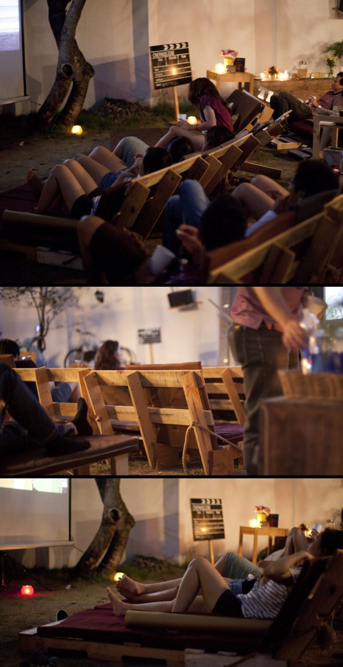 Καρέκλες Παλέτα Κινηματογράφος Κήπος