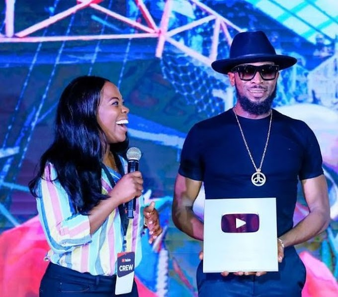 Legend D'Banj Receives A Plaque From Youtube After Hitting 100,000 Subscribers (Photos)