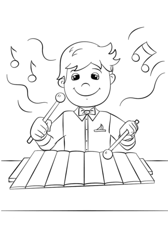 880 Top Coloring Pages Xylophone Pictures
