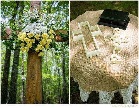 Christian wedding ideas: cross altar and unity cross