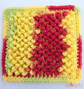 Tunisino Pebbles Dishcloth - padrão livre perfeito para aprender crochê tunisiano!