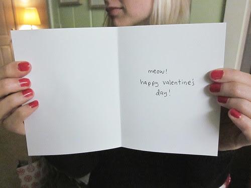 Kitty Heart Valentine's Day Card Inside