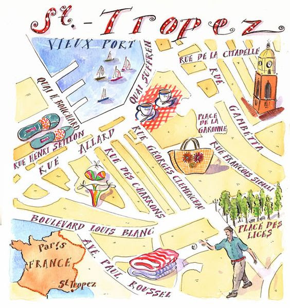 Map Of St Tropez France Champagne Darling
