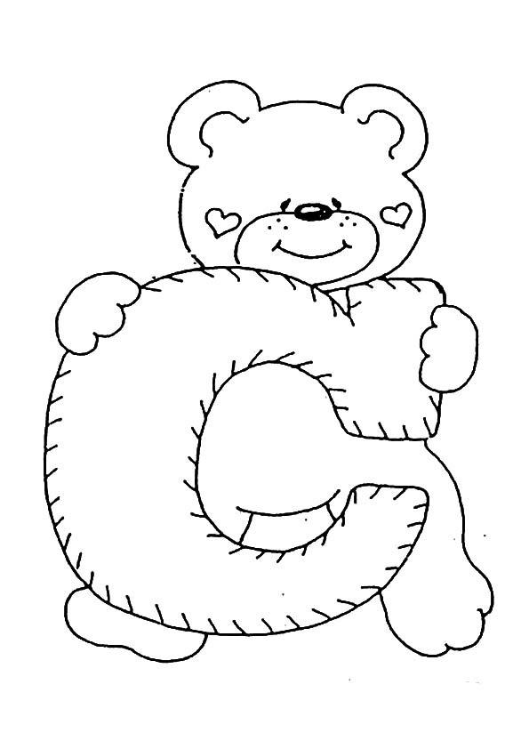 Letra C Para Colorear Dibujos Para Colorear