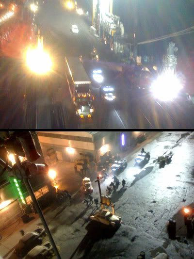 TRANSFORMERS 2 filming being done in Long Beach, California.