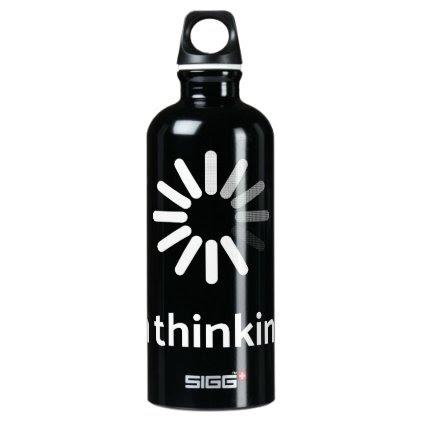 I'm thinking (loading | nerd) black background water bottle