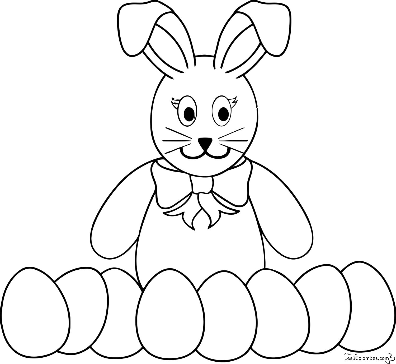 Imprimer le coloriage Animaux Lapin numéro