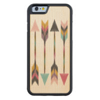 Bohemian Arrows Maple Wood iPhone 6 Case Carved Maple iPhone 6 Bumper Case