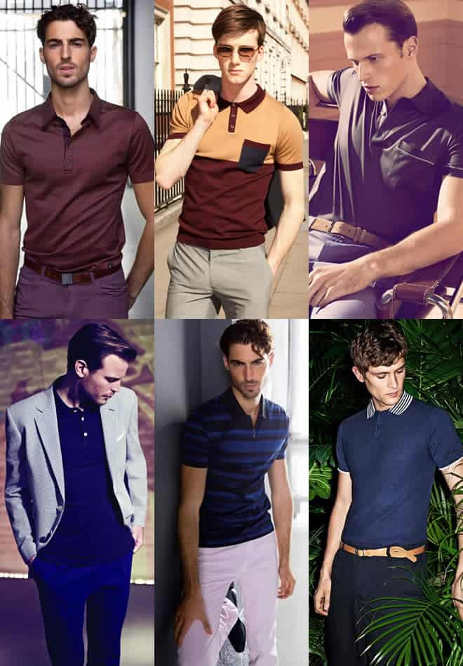 Trousers and polo shirt combination examples