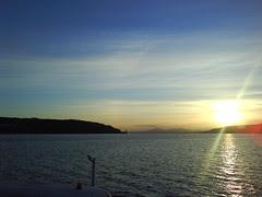 Sunset and Arran hills