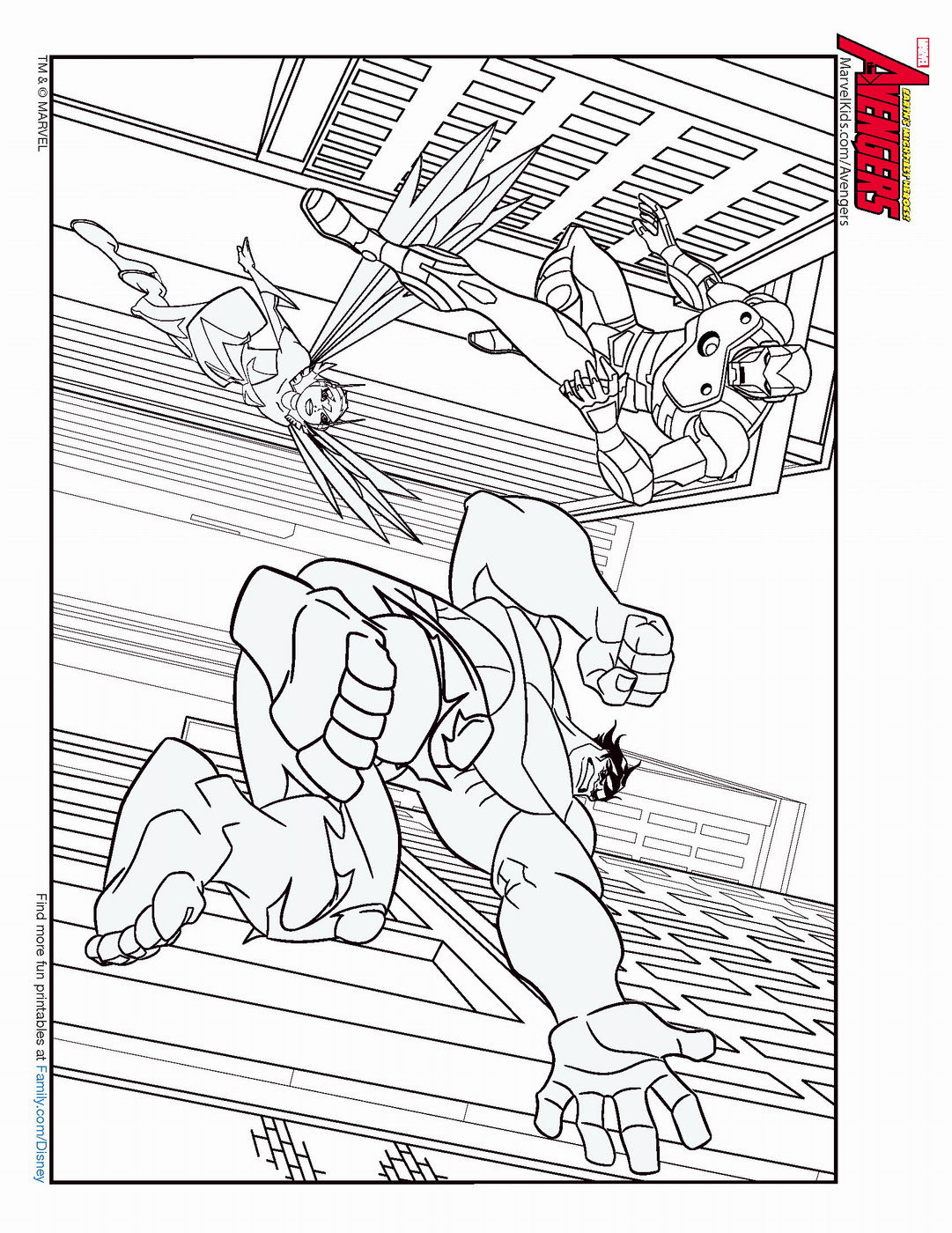 The Avengers Coloring Pages