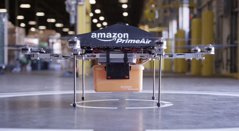 amazon prime air drone system delivers goods in 30 minutes