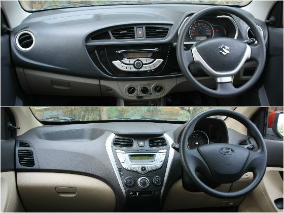 New Maruti Alto K10 vs Hyundai Eon 1.0 interior