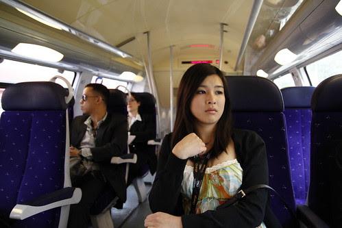 Fooi Mun in a train
