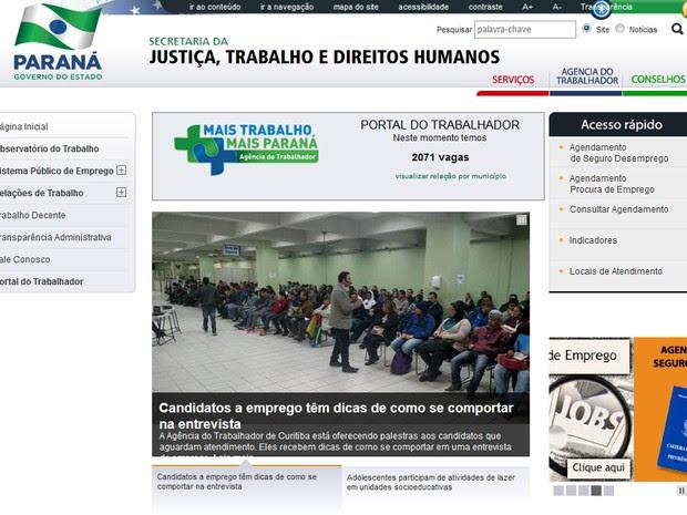 Informações sobre vagas de emprego disponíveis nas agências do Trabalhador do Paraná são atualizadas diariamente (Foto: Reprodução/internet)