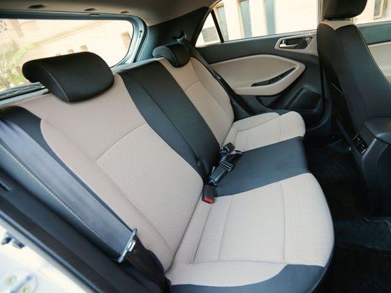 Hyundai Elite i20 rear seats