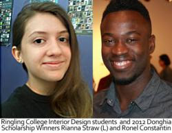 Two Ringling College Interior Design Students Win 2012 Donghia