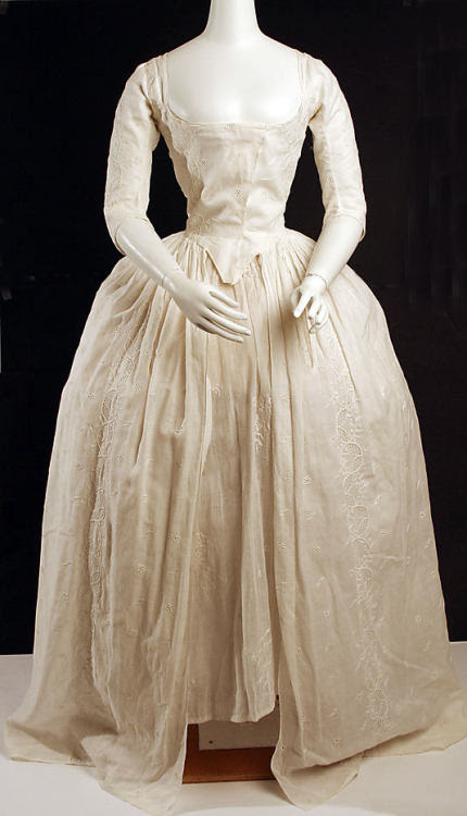 Robe à l'Anglaise 1780 The Metropolitan Museum of Art