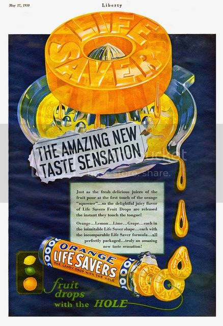 chronically vintage adventures in vintage advertising life savers candy