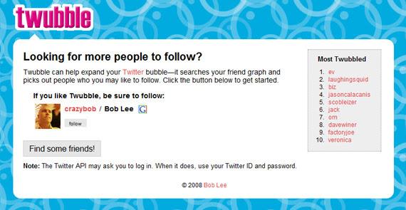 twubble-twitter-tool