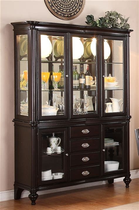 Foley Buffet and Hutch in Espresso Finish by Crown Mark   2227H